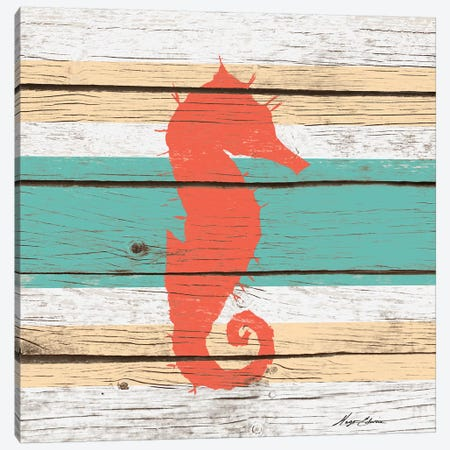 Striped Sea Creature I Canvas Print #HED12} by Hugo Edwins Canvas Print