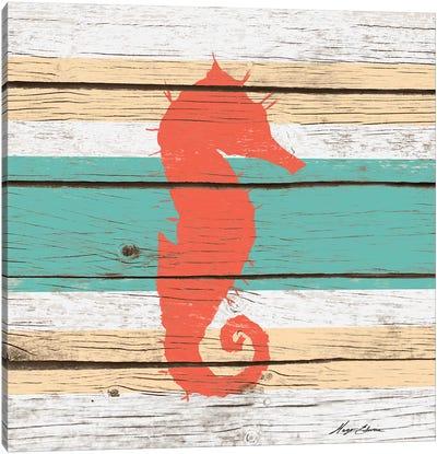 Striped Sea Creature I Canvas Art Print