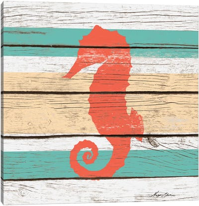 Striped Sea Creature II Canvas Art Print