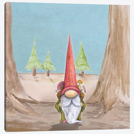 Gnoming Around I Canvas Print #HED17} by Hugo Edwins Canvas Wall Art