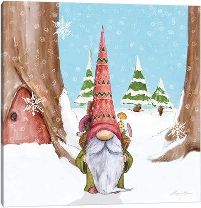 Winter Gnome I Canvas Art Print
