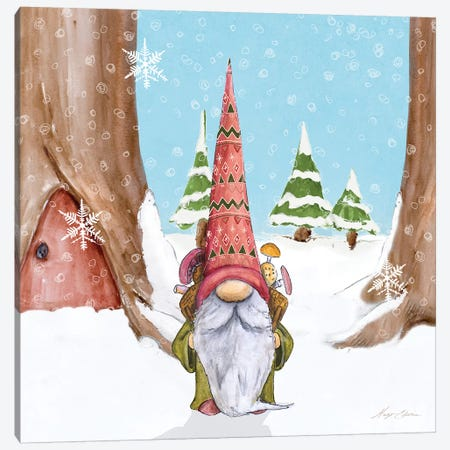 Winter Gnome I 3-Piece Canvas #HED20} by Hugo Edwins Canvas Wall Art
