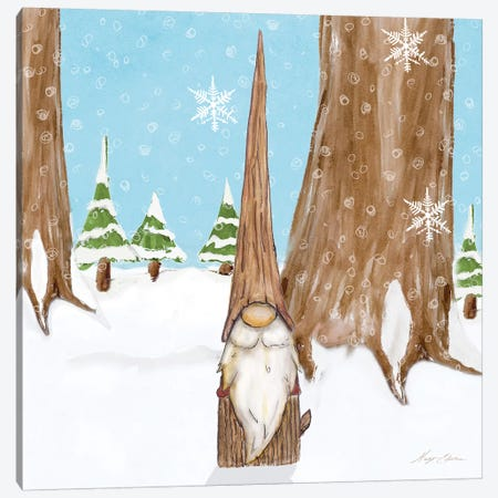 Winter Gnome III Canvas Print #HED22} by Hugo Edwins Canvas Wall Art