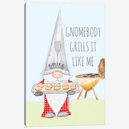 Gnomebody Grills it Like Me Canvas Print #HED26} by Hugo Edwins Art Print
