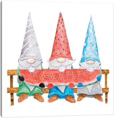Watermelon Gnomes Canvas Art Print