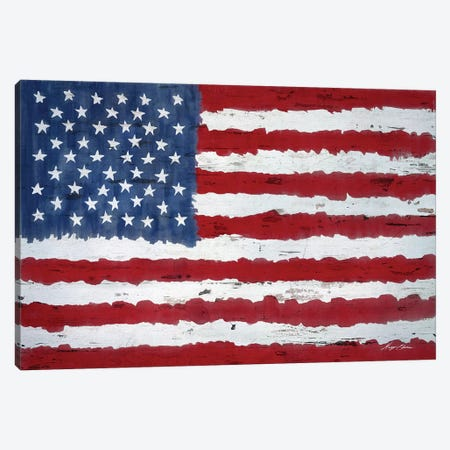 Old Glory Canvas Print #HED3} by Hugo Edwins Canvas Print