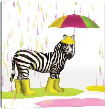 Raindrop Safari Zebra Canvas Art Print