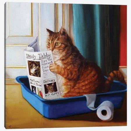 Kitty Throne Canvas Print #HEF103} by Lucia Heffernan Canvas Print