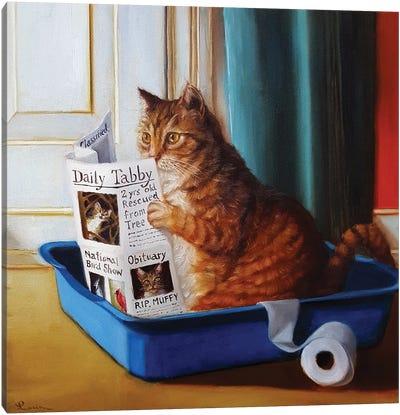 Kitty Throne Canvas Art Print