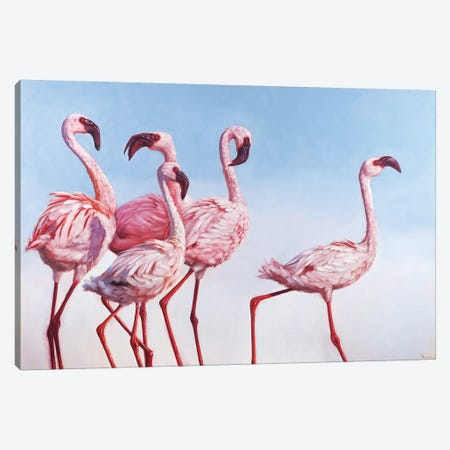 Pink Ladies Canvas Print #HEF105} by Lucia Heffernan Canvas Art