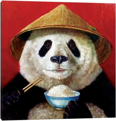 Panda Canvas Print #HEF10