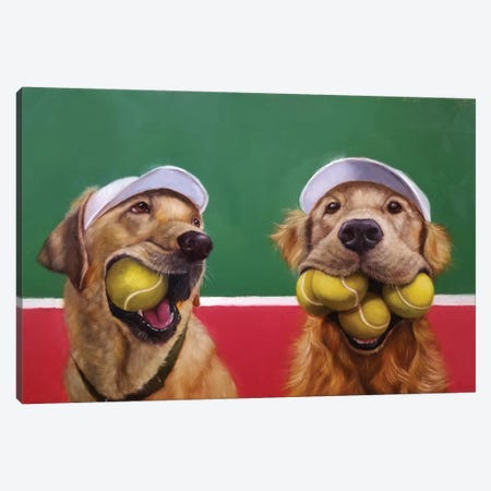 Ball Hog Canvas Print #HEF111} by Lucia Heffernan Canvas Artwork