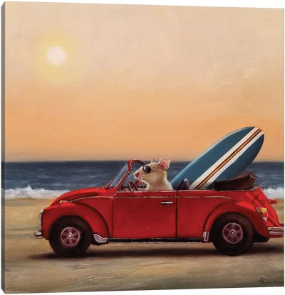Beach Bound Canvas Art Print
