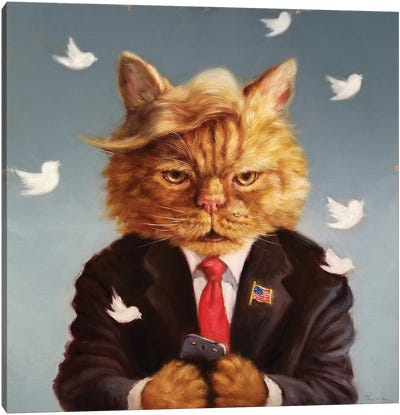 Catty Remarks Canvas Art Print