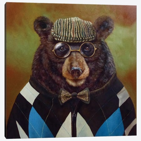 Papa Bear Canvas Print #HEF11} by Lucia Heffernan Canvas Print