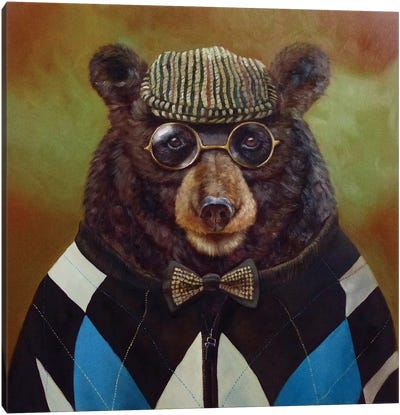 Papa Bear Canvas Print #HEF11