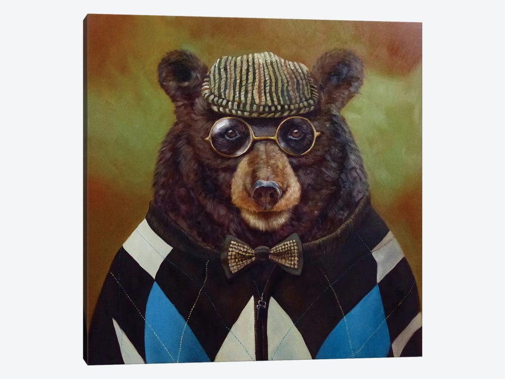 Papa Bear by Lucia Heffernan 1-piece Canvas Artwork