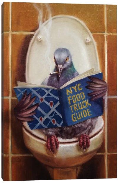 Stool Pigeon Canvas Art Print