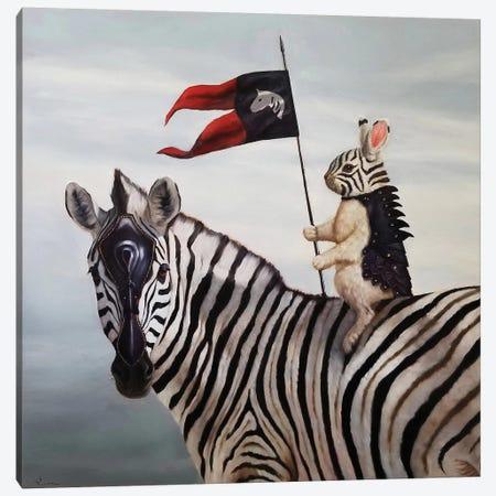 Striped Warrior Canvas Print #HEF125} by Lucia Heffernan Canvas Art