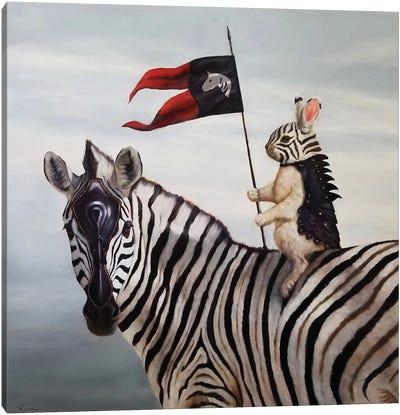 Striped Warrior Canvas Art Print