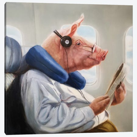 When Pigs Fly II Canvas Print #HEF128} by Lucia Heffernan Canvas Print