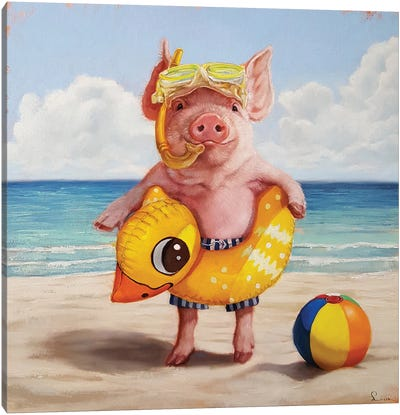 Baked Ham Canvas Art Print