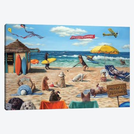 Dog Beach Canvas Print #HEF138} by Lucia Heffernan Canvas Artwork
