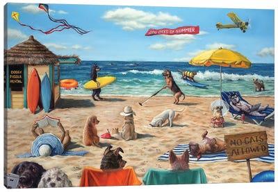 Dog Beach Canvas Art Print