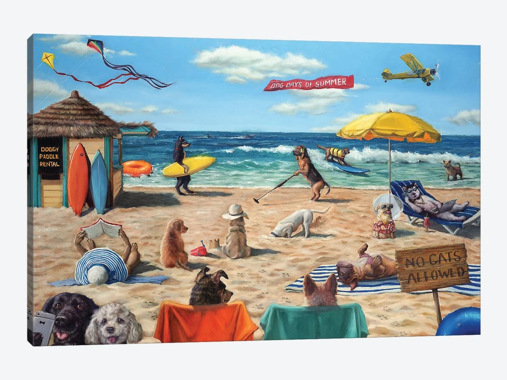 Dog Beach by Lucia Heffernan 1-piece Canvas Print