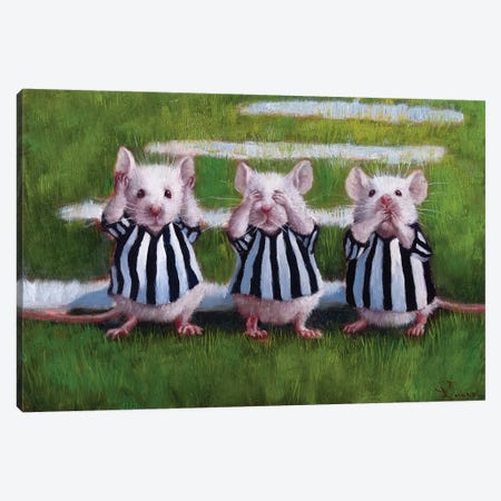 Three Blind Mice Canvas Print #HEF13} by Lucia Heffernan Canvas Art Print