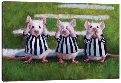 Three Blind Mice Canvas Art Print