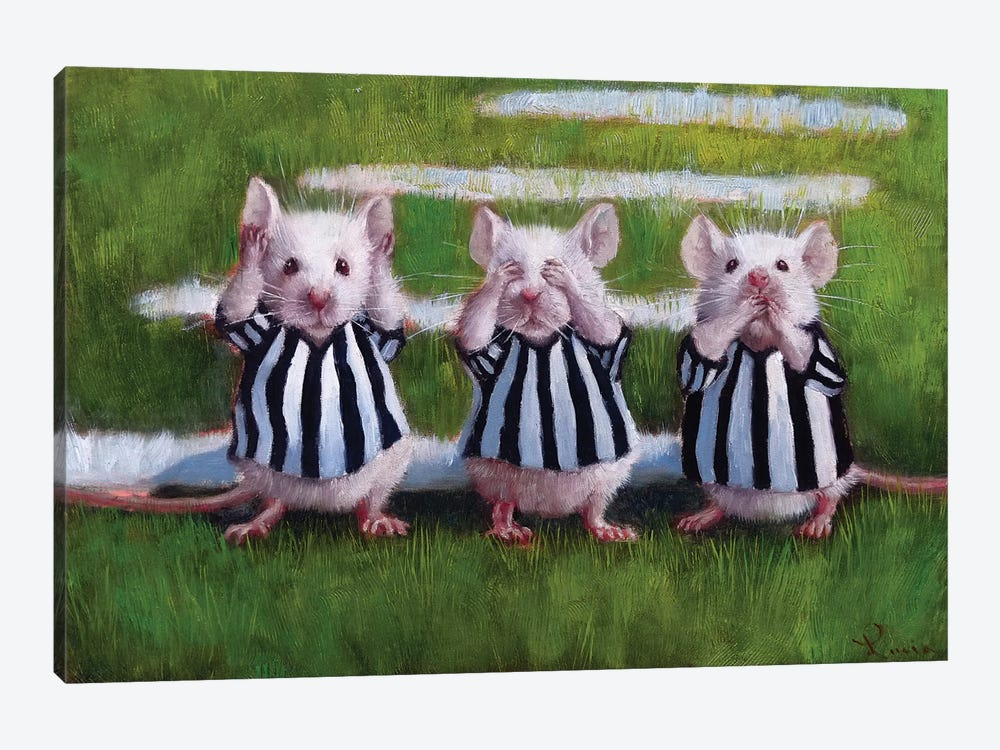 Three Blind Mice by Lucia Heffernan 1-piece Canvas Art