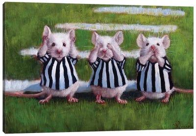 Three Blind Mice Canvas Art Print