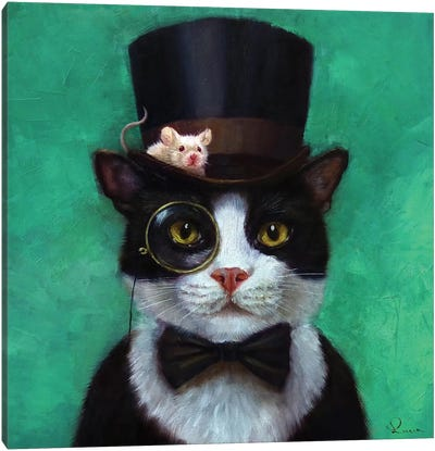 Tuxedo Cat Canvas Art Print