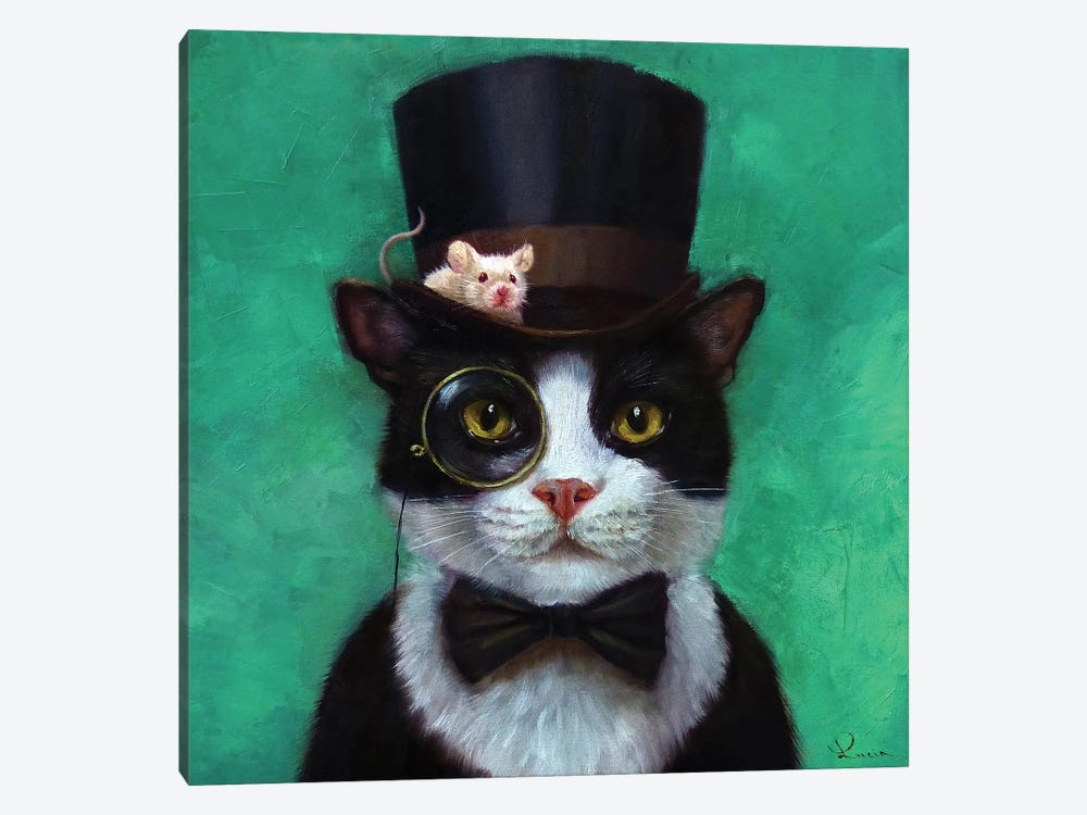 Tuxedo Cat by Lucia Heffernan 1-piece Canvas Print