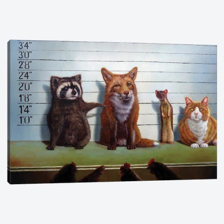 Usual Suspects Canvas Print #HEF15} by Lucia Heffernan Canvas Art