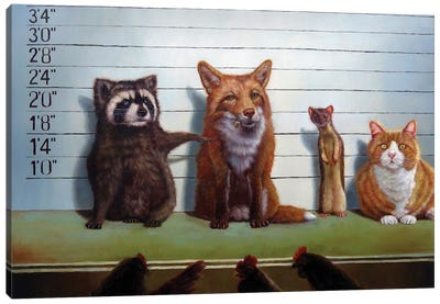 Usual Suspects Canvas Print #HEF15