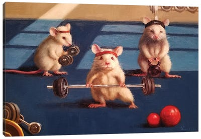 Gym Rats Canvas Art Print