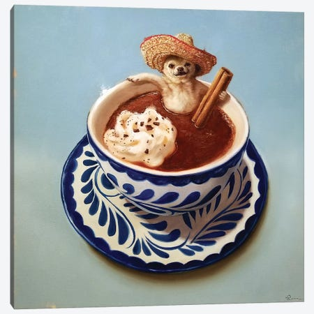 Mexican Hot Chocolate Canvas Print #HEF181} by Lucia Heffernan Canvas Art Print