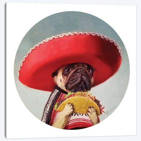 Mi Taco Mi Amigo Canvas Print #HEF182} by Lucia Heffernan Art Print