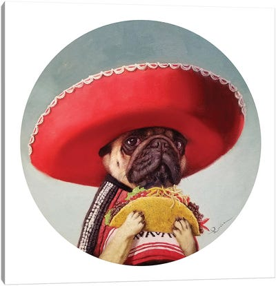 Mi Taco Mi Amigo Canvas Art Print