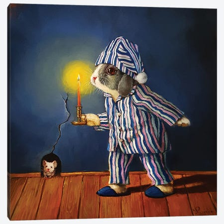 The Night Before Xmas Canvas Print #HEF184} by Lucia Heffernan Canvas Art