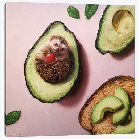 Avocado Toast Canvas Print #HEF191} by Lucia Heffernan Canvas Artwork