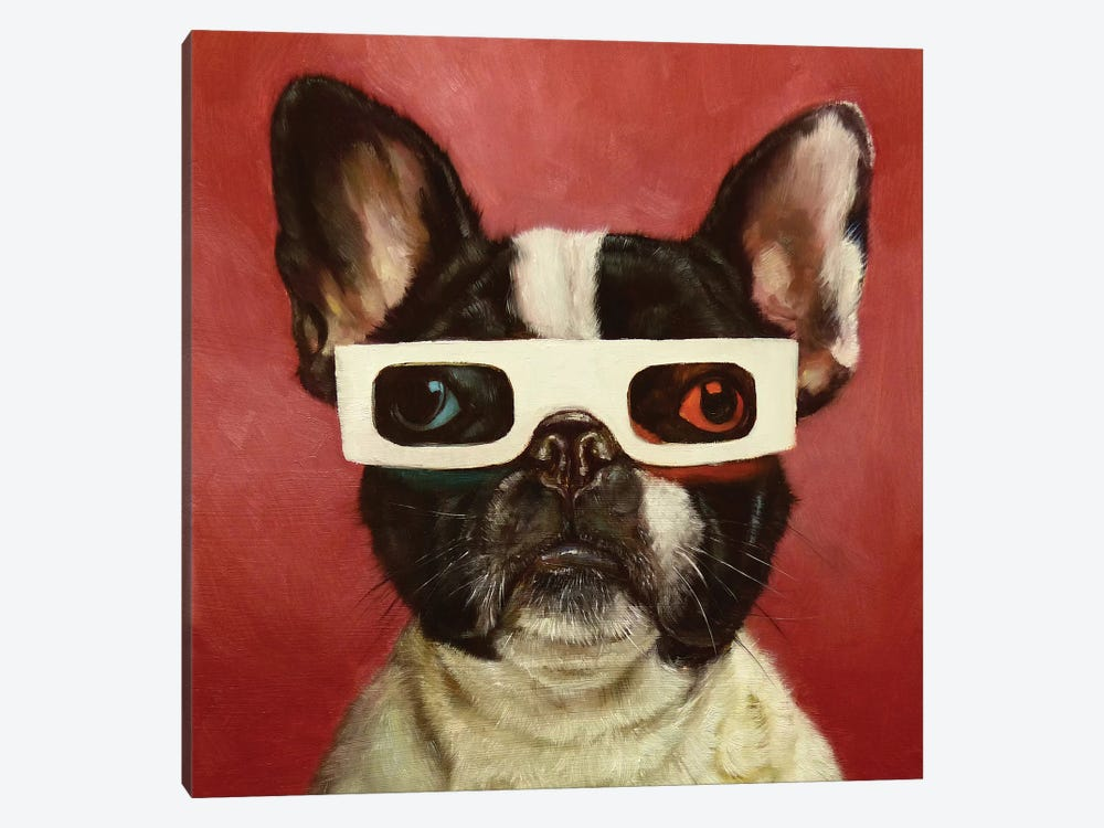 3D Dog by Lucia Heffernan 1-piece Canvas Print