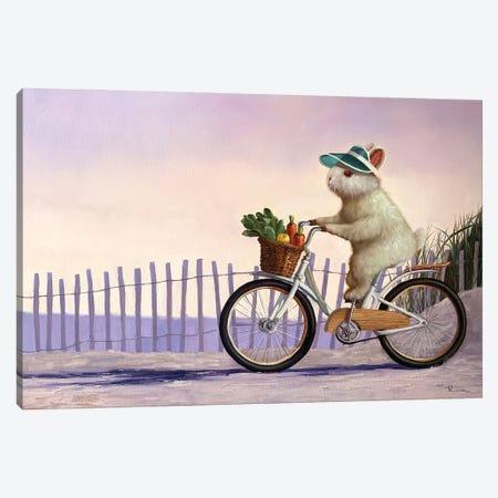 Beach Bunny Canvas Print #HEF200} by Lucia Heffernan Canvas Art