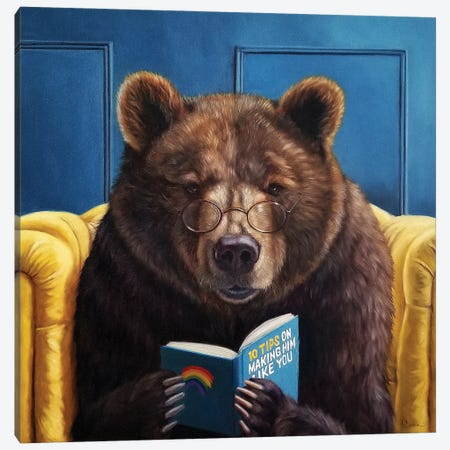 Bear Trap Canvas Print #HEF201} by Lucia Heffernan Canvas Artwork
