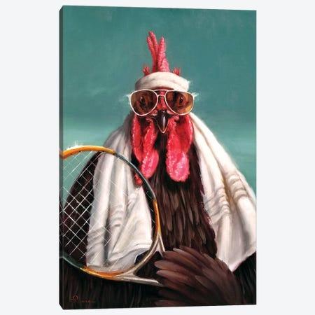 The Tennis Pro Canvas Print #HEF209} by Lucia Heffernan Canvas Art