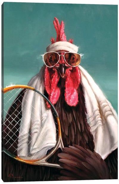 The Tennis Pro Canvas Art Print