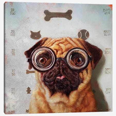 Canine Eye Exam Canvas Print #HEF21} by Lucia Heffernan Canvas Artwork
