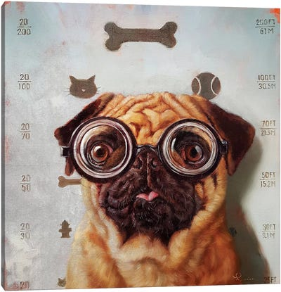 Canine Eye Exam Canvas Art Print